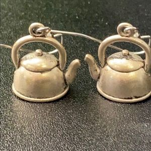 Vintage Teapot Pierced Earrings For Tea Lovers